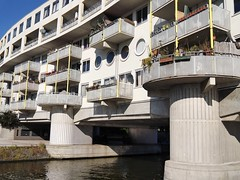 Amsterdam photos, modern architecture - a residential apartments building built as a bridge over the canal-water in heavy concrete construction - geotagged free urban picture, in public domain / Commons CCO; city photography, Fons Heijnsbroek (Amsterdam photos in public domain) Tags: architecture modernarchitecture dutcharchitecture residentialbuilding concreteconstruction photo picture image design amsterdam the netherlands urban publicdomain publiekdomein nocopywright freedownload freeprint printforfree fonsheijnsbroek ccophotography freephotos photofree opensourcephotos geotagged thenetherlands dutch photographer dutchphotographer urbanphotographer urbanphotoart urbanphoto dutchphoto dutchphotography urbanphotography commons cc photography amsterdamcity outdoor impression pic highresolution goodquality printfree cco building bridge housebridge