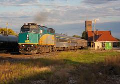Evening Departure (Joseph Bishop) Tags: via 6459 emd f40ph3 t trains train track tracks railfan railroad railway rail rails cndundassubdivision brantford