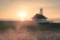 Morning Glow~ (Ernie Kwong Photography) Tags: autumn beach glow light leuty lifeguard singhray sunrise seascape lakeontario toronto nikon d810 20mm thebeaches eastend waterfront torontonist blogto urbantoronto reversegnd lake sand marinas
