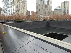 9-11 Memorial Pools (footprints of original two towers) New York November 2016 (358) (Richie Wisbey) Tags: 911 september 2001 two twin towers world trade center centre ground zero memorial tribute survivor tree downtown new york city usa nine eleven richard richie wisbey november 2016