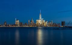 Blue hour (Arun Sundar) Tags: hoboken newjersey unitedstates us new york ny manhattan blue buildings beautiful freedom arun sundar canon
