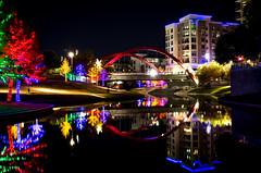 Vitruvian Park (kiwi_in_dallas) Tags: vitruvianpark lights reflection christmas color