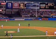 Action at Yankee stadium (Redbird310) Tags: sports grass stadium ballpark al newyork action americanleague game baseball mlb