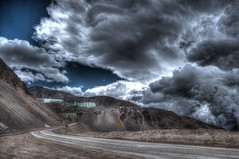 Electrical Storm (gutipictures) Tags: andesmountains cordillera montaña invierno winter snow clouds storm sunny nubes sol cielo sky bluesky road camino landscape panoramica panoramic hdr shadow sombra luces lights chile santiago outdoor cloud nube farellones way hill cerro mining mineria plant cobre copper electricalstorm tormentaelectrica