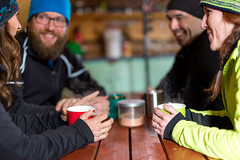 Winter Cabin (Newfoundland and Labrador Tourism) Tags: western winter snow cabin break coffee mug people group couples couple