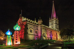St Columbs Cathedral illuminated during the Halloween festival in Derry / Londonderry (jac.photography49) Tags: derry halloween