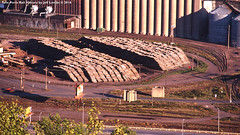 Superwood Corporation in Duluth, Minnesota 1989 K (Twin Ports Rail History) Tags: twin ports rail history by jeff lemke time machine duluth minnesota aerial photograph pulpwood industry superwood corporation hardboard 1989