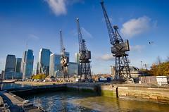 Autumn on the Wharf 13th Nov (11 of 37) (johnlinford) Tags: autumn canarywharf canon canonefs1022 canoneos7d crane cranes docklands e14 landscape london towerhamlets urban urbanautumn