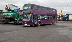First Manchester. (Phill_129) Tags: first manchester 39259 bt66 mrv volvo b5lh wrightbus wrights double decker new bus buses england