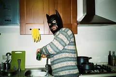 (Marco Antonecchia) Tags: compact contax contaxt2 film fujifilm filmphotography filmisnotdead streetphotography mask batman compactfilmcamera batmanmask 35mm funny kitchen