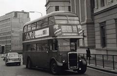 c1967 - London Transport Leyland RTL1573 outside St George's Hospital. Route 22. (RTW501) Tags: rtl1573 old792 hydeparkcorner leyland titan parkroyal route22 stgeorgeshospital hillman rtl leylandtitan
