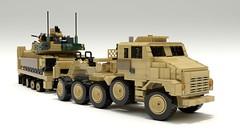 M-1070 and M-1000 (TheRookieBuilder) Tags: m1070 m1000 m1a2abrams transport logistic military lego legodigitaldesigner ldd mecabricks blender render