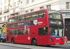 Metroline TEH1108 on route 139 The Strand 26/11/16. (Ledlon89) Tags: london centrallondon westend capital