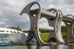 The Falkirk Wheel Close Up (IceNineJon) Tags: unitedkingdom falkirkwheel scotland stirlingshire canon5dmarkiii falkirk europe photography greatbritain 5dm3 britain uk elevator lift boat boats engineering