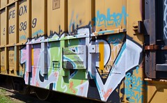Memsr (Uncle Seymour Bencher) Tags: graffiti florida steel seymour streaks taft freight boxcars bencher monkers seemorebencher