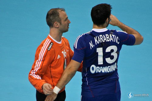 Thierry Omeyer et Nikola Karabatic
