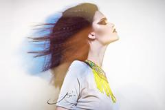 Envision. (Je' Bo) Tags: blue beauty fashion yellow wind pop glowing cheekbones avantgarde cateye highfashion popphotography jennaszabo jebofoto jennaszabophotography