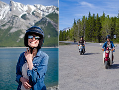 Iona at Lake Minnewanka. (Chri*C) Tags: portrait lake spring scooter alberta banff lakeminnewanka minnewankaloop