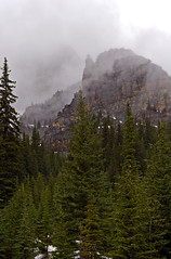 Temple In The Mist (DCZwick) Tags: trees cloud mist mountain canada fog forest rockies alberta banff rockymountains banffnationalpark canadianrockies templemountain mounttemple banffpark mttemple sigma1850exdcmacro