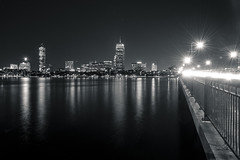 The City at Night (R23W) Tags: bw boston night sailboat river boats nikon day sailing mit massachusetts harvard charlesriver johnhancock bu prudential backbay hancocktower massave prudentialbuilding 28200mm d600