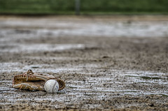 "Week 20 of 52 Theme: ""Sports"" Rain Delay - HDR (sumoetx) Tags: from game sports field grass rain weather leather sport ball photography utah spring focus delay play shot mud baseball howard great snap diamond dirt glove softball 70300mm jackman base hdr cancelled mitt resident joby photomatix gorillapod sumoetx lptg hdrwithd7000 lptg52 lptg52weekchallenge lptg52challenge lptg13wk20"