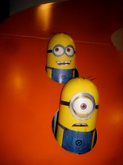 Despicable Me 2 Whack A Mole Minion Game Standee  0200 (Brechtbug) Tags: street new york city nyc 2 two game me yellow computer movie poster theater with theatre cartoon billboard lobby animation critters amc mole 34th whack gru sequel despicable minion standee henchmen standees 2013 a 05202013