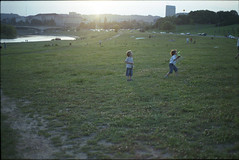 (33b) Tags: light boy sunset sun film 35mm river vilnius sunflare