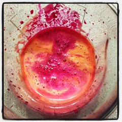 Juicing psychedelic (Toastervan) Tags: colours juice beets carrots celery juicing uploaded:by=flickrmobile flickriosapp:filter=nofilter