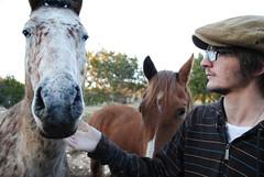 (Alexa Night) Tags: horses people austin texas captain chase hillcountry 2010 winter2010 february2010