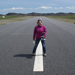 Kim on the runway