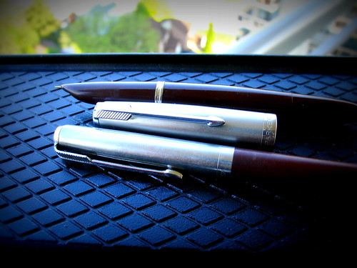 Parker 51 Vac Brown w/matching pencil