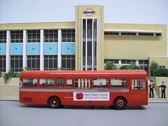 Seventies at North Street, Romford. (kingsway john) Tags: londontransport sms north street bus model 176 scale essex londontransportmodel diorama oo gauge miniature