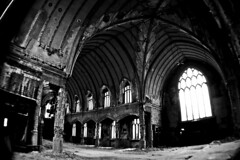 Worship (detcypher urbex) Tags: new windows bw white black abandoned church saint st gardens catholic decay michigan gothic detroit center lasalle agnes sanctuary unused