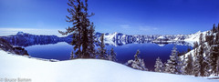 7904 Crater Lake.jpg (Bruce Batten) Tags: cascades locations mountains oregon panoramas photographicstylesandtechniques plants subjects trees usa craterlake unitedstates lakesponds snowice reflections lighthouses