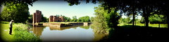 Panorama of the moat and Castle from under trees (**Hazel**) Tags: panorama castle kirby picasa hazel moat muxloe