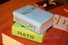 Teacher Retirement Cake (Kiss My Buttercream) Tags: apple cake pencil paper desk books teacher batman chalkboard retirement