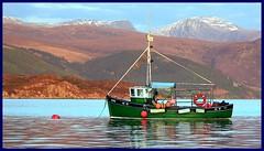 fishing boat (wolfsmoon-photography.de) Tags: nature landscape scotland seaside scottish loch