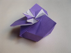 Mlisande*'s Daffodil Box Variation (side) (georigami) Tags: paper origami papel papiroflexia