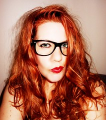 195/365. you all have overdue library books! (Manhattan Girl) Tags: selfportrait redheads gingers fauxglasses shellykayphotography