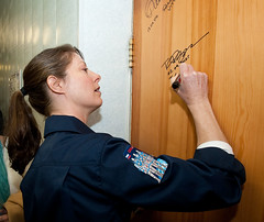 Expedition 23 Launch Day (NASA Johnson) Tags: kazakhstan signatures baikonur baikonurcosmodrome roscosmosrussianfederalspaceagency expedition23 tracycaldwelldyson