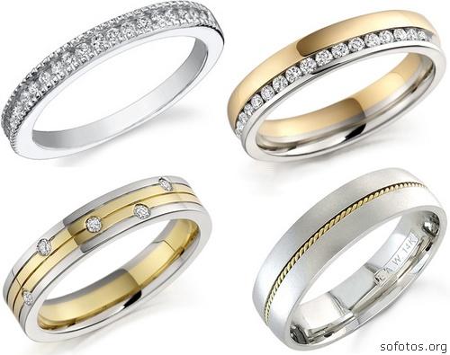 Alianças de casamento e noivado