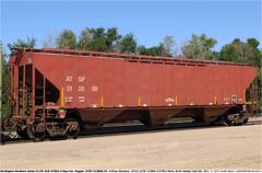ATSF312858GB_060911 (Catcliffe Demon) Tags: lo northamerica bnsf atsf freightcars burlingtonnorthernsantafe atchisontopekasantafe coveredhopper grainhopper ga180 pullmanstandard ps2cd 3bay wagonsontheweb 4750cf