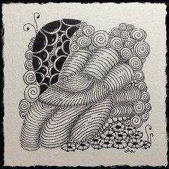 No. 5 (ha! designs) Tags: art pen pencil tangle 2013 zentangle hadesigns uploaded:by=flickrmobile flickriosapp:filter=nofilter hadesignszentangle