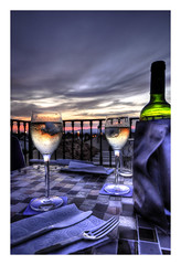 Roof top dinner (RichardK2010) Tags: rooftop dinner spain nikon wine terrace alicante d90 photomatix4