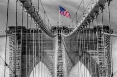 Brooklyn Bridge (Alex Tumusok) Tags: nyc newyork nikon flag americanflag brooklynbridge neverforget actphotography d7000