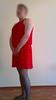red_set_002 (nullyfemme) Tags: red dress panty stocking crossdresser crossdress slips gatherbelt