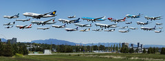 YVR Panorama composite (Zorro1968) Tags: composite aircraft airplanes transportation klm yvr westjet 777 lufthansa boeing747 747 dash8 usair alaskaairlines cathaypacific aircanada 787 koreanair airtransat vancouverinternationalairport allnipponairways chinasouthern pacificcoastal edelweissair boeing787dreamliner
