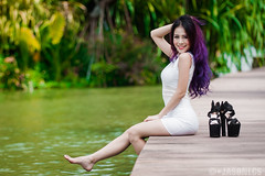 Reiko - MBS - 020 (jasonlcs2008) Tags: woman white sexy girl beautiful fashion lady wonderful pose nice model singapore photoshoot modeling outdoor good sunny tight poses reiko 2015 marinabaysands jasonlcs reikohere