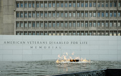 American Veterans Disabled for Life Memorial (ep_jhu) Tags: windows water pool concrete fire us dc washington districtofcolumbia agua memorial fuji unitedstates flame dcist fujifilm veterans hhs reptition x100s americanveteransdisabledforlife