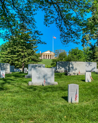 View to Arlington House (dngovoni) Tags: cemetery arlington landscape background military scenic arlingtonnationalcemetery memorialday